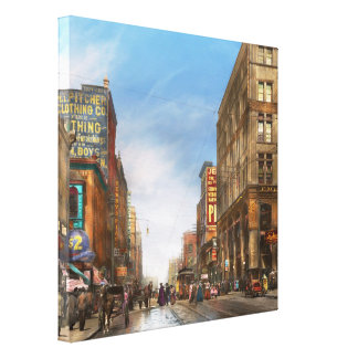 City - Kansas City MO Commerce from the past 1900 Canvas Prints