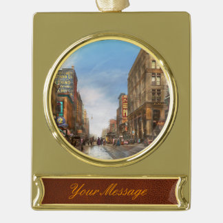 City - Kansas City MO Commerce from the past 1900 Gold Plated Banner Ornament