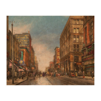 City - Kansas City MO Commerce from the past 1900 Queork Photo Print