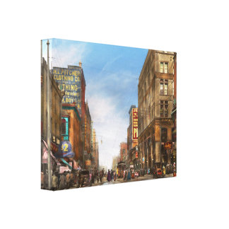 City - Kansas City MO Commerce from the past 1900 Stretched Canvas Print
