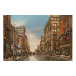 City - Kansas City MO Commerce from the past 1900 Wood Print