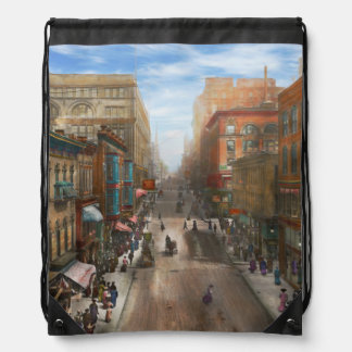 City - Kansas City MO - Petticoat Lane 1906 Drawstring Bag