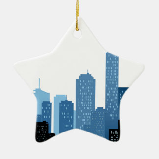 City Landscape Ceramic Star Decoration