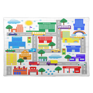 City Life Cloth Placemat