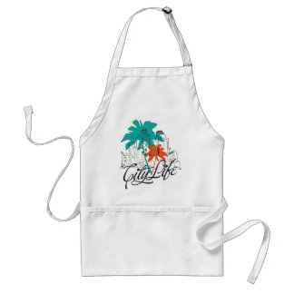 City Life - Graphic City with Palm Trees Aprons