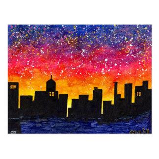 City Lights #5 Postcard