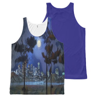 city lights All-Over print tank top