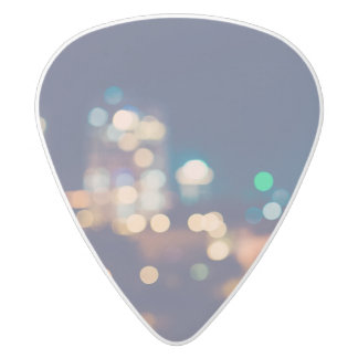 City Lights Guitar Pick White Delrin Guitar Pick