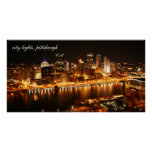city lights, pittsburgh poster