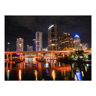 City Lights Skyline by Night Photo