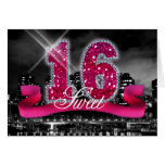 City Lights Sweet Sixteen Pink ID117 Note Card