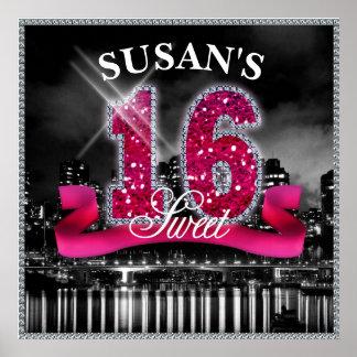 City Lights Sweet Sixteen Poster