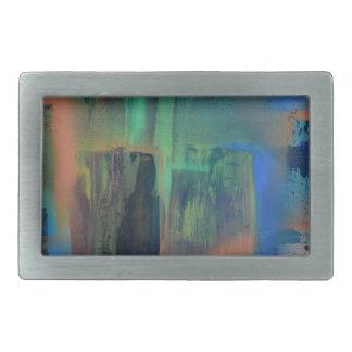 City lights through wet window pane.JPG Belt Buckle
