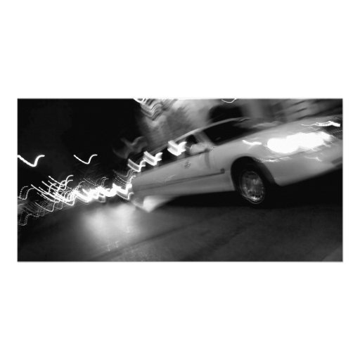 City Limousine at Night Photo Greeting Card