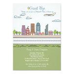 City Line Farewell Party Invitation 13 Cm X 18 Cm Invitation Card