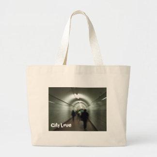 City love jumbo tote bag