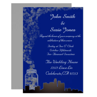City meets Country custom elegant invitation