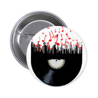 City Music 6 Cm Round Badge