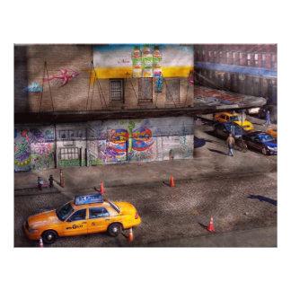 City - New York - Greenwich Village - Life's color 21.5 Cm X 28 Cm Flyer