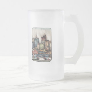 City - New York Skyscrapers Frosted Glass Mug