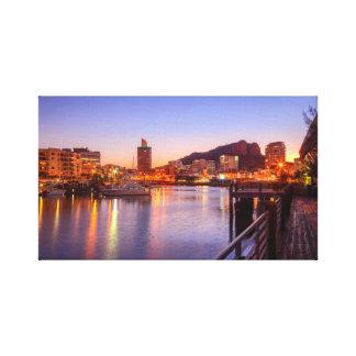 City Nights, City Skyline Art, City Sunset. Canvas Print