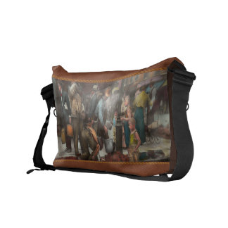 City - NY - Drinking water from a street pump 1910 Messenger Bag