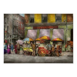 City - NY- Lunch carts on Broadway St NY - 1906 Card