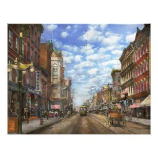 City - NY - Main Street. Poughkeepsie, NY - 1906 21.5 Cm X 28 Cm Flyer