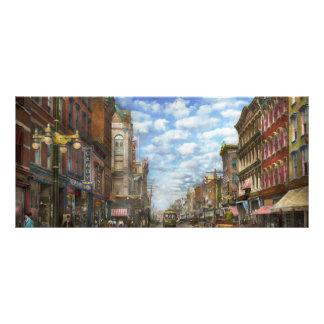 City - NY - Main Street. Poughkeepsie, NY - 1906 Rack Card Design