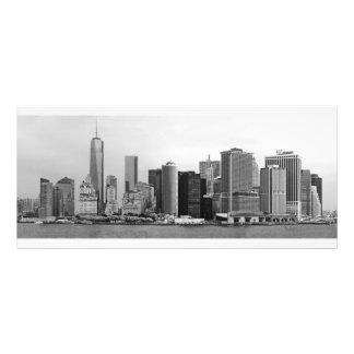 City - NY - The financial district - BW Custom Rack Card