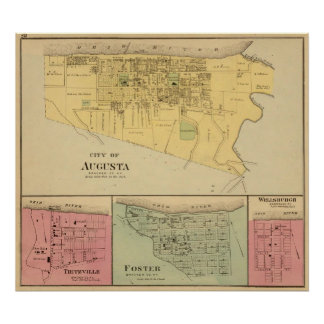 City of Augusta with Tietzville, Foster Poster