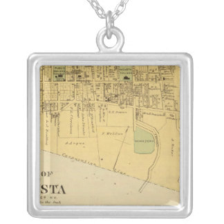 City of Augusta with Tietzville, Foster Silver Plated Necklace