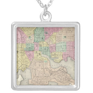 City Of Baltimore Maryland Silver Plated Necklace