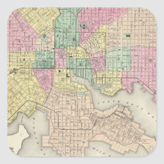 City Of Baltimore Maryland Square Sticker