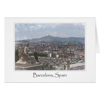 City of Barcelona Spain Cityscape Card