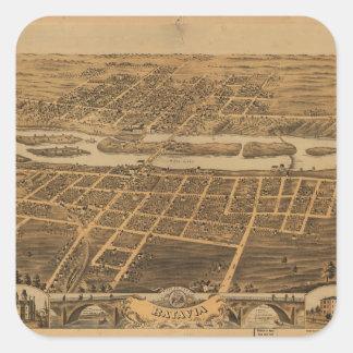 City of Batavia Kane County Illinois (1869) Square Sticker