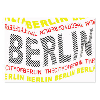 City of Berlin Logo/Memento (1) Pack Of Chubby Business Cards
