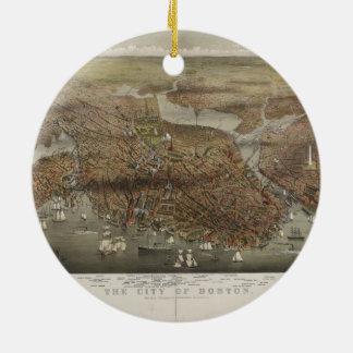 City of Boston Massachusetts 1873 Christmas Ornament