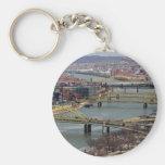 City of Bridges Basic Round Button Key Ring