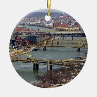 City of Bridges Christmas Ornament