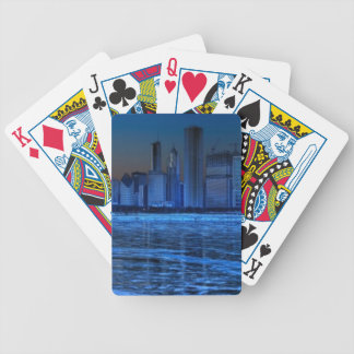 City of broad shoulders and lake Michigan Bicycle Playing Cards