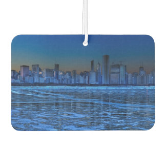 City of broad shoulders and lake Michigan Car Air Freshener