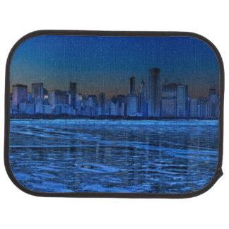 City of broad shoulders and lake Michigan Car Mat