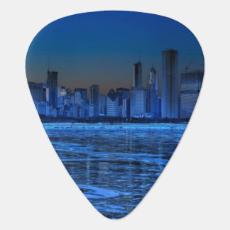 City of broad shoulders and lake Michigan Guitar Pick