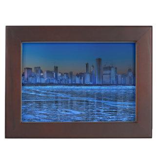 City of broad shoulders and lake Michigan Keepsake Box