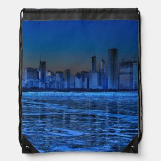 City of broad shoulders and lake Michigan Cinch Bag