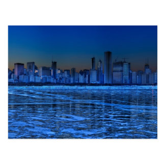 City of broad shoulders and lake Michigan Postcard