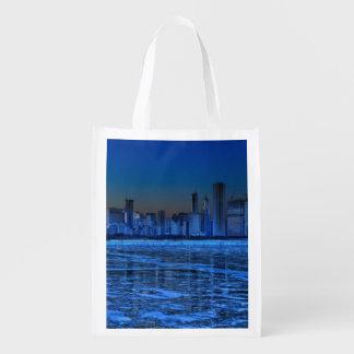 City of broad shoulders and lake Michigan Reusable Grocery Bag