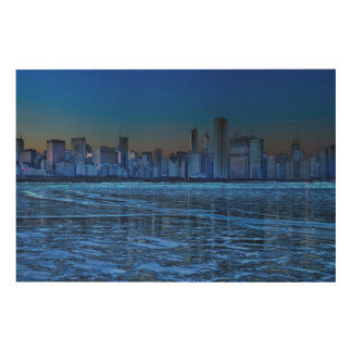 City of broad shoulders and lake Michigan Wood Wall Art