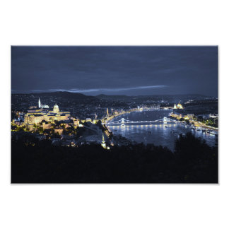 City of Budapest(Hungary) at Night Photo Print